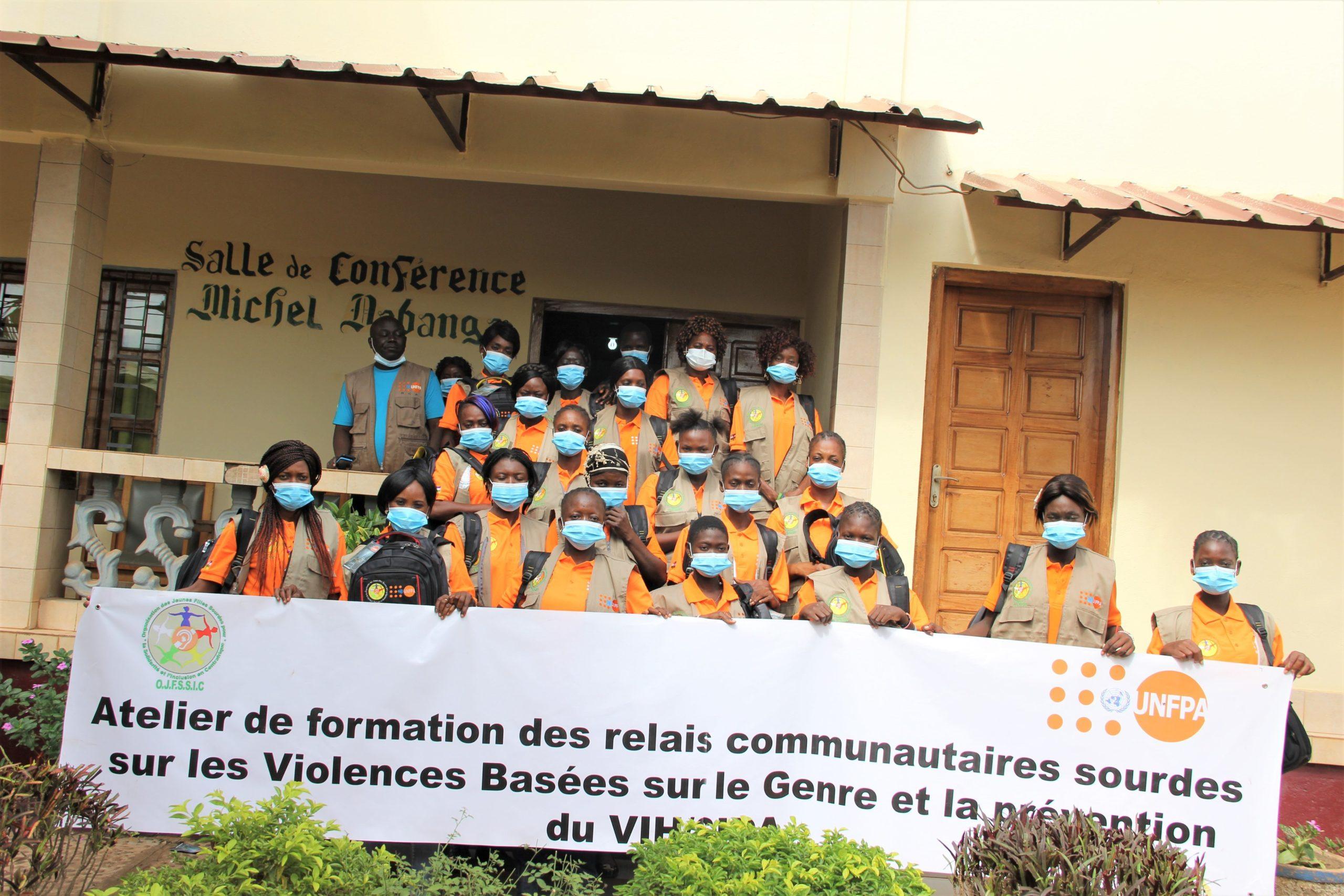 Centrafrique : Des Jeunes filles sourdes-muettes formées par UNFPA sur la prévention du VIH et les VBG