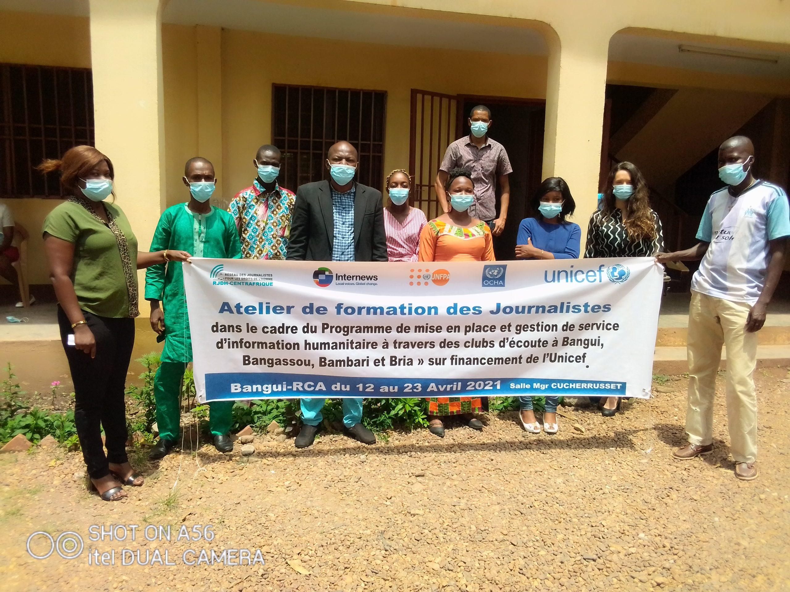 Centrafrique : Vers la mise en place d'un service d'information humanitaire par le RJDH et l'Unicef dans trois villes du pays