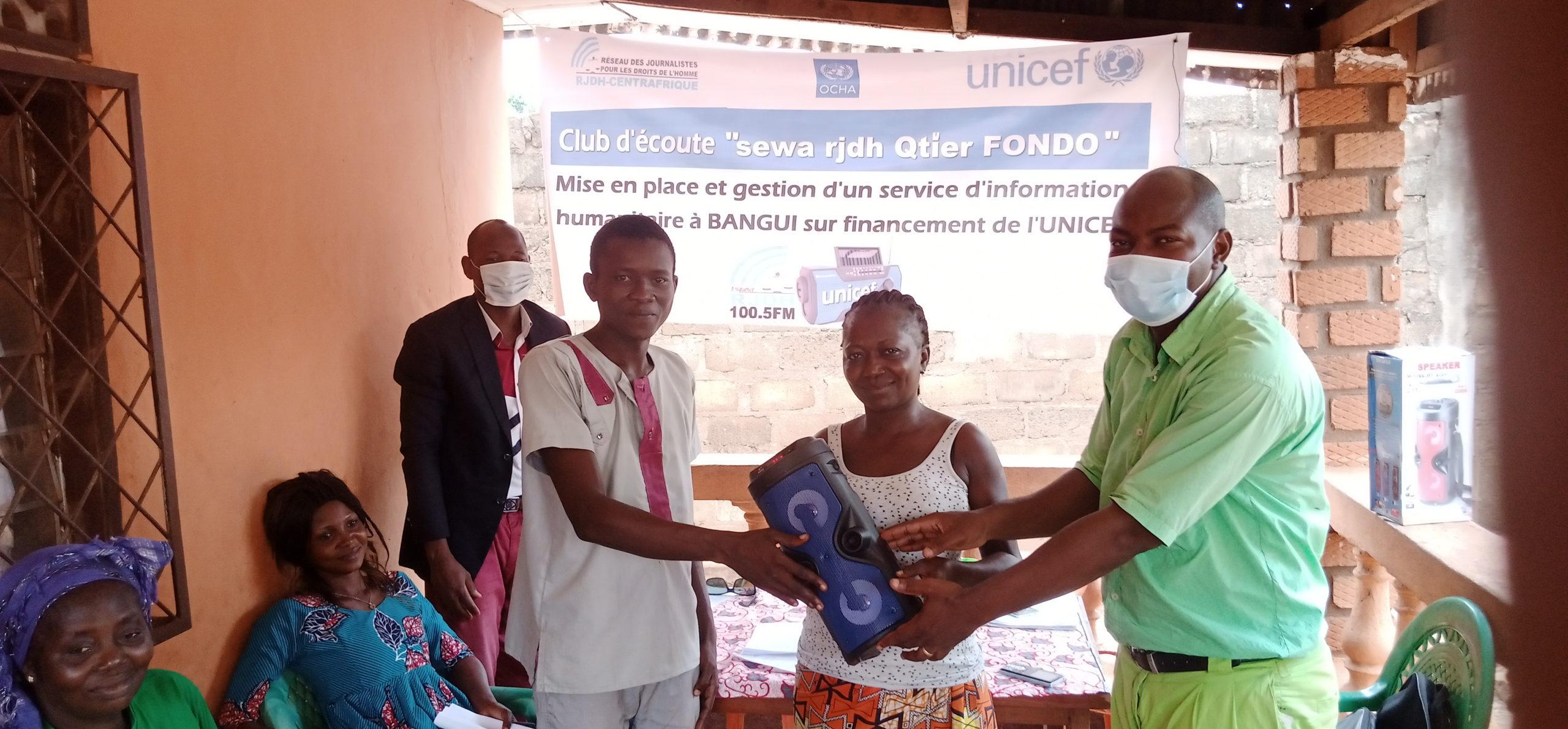 Centrafrique : Le RJDH lance la mise en place des clubs d'écoute de Bangui