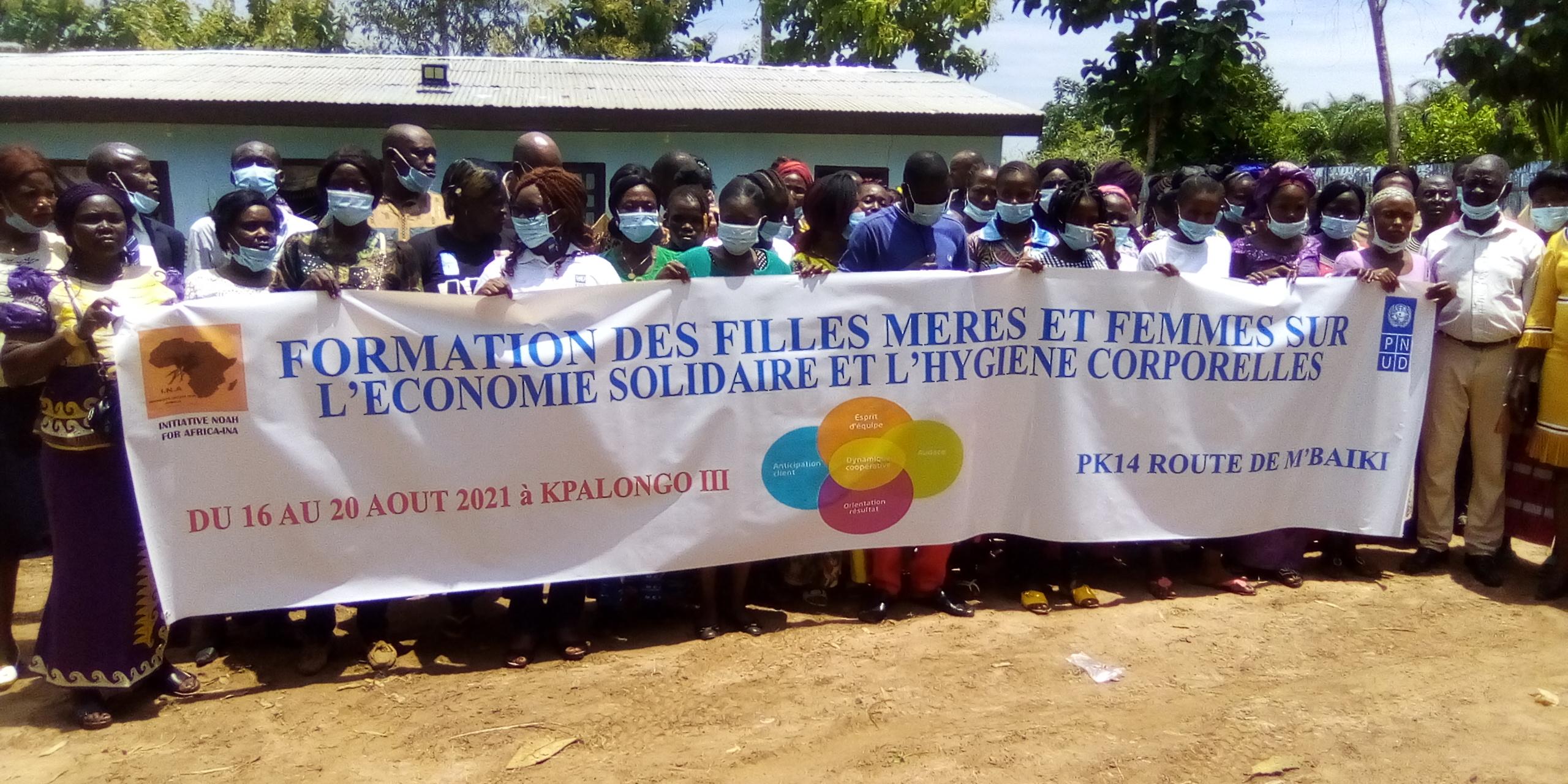 Centrafrique : Le PNUD soutient l'autonomisation des filles-mères du village Kpalongo situé à 14 km de Bangui