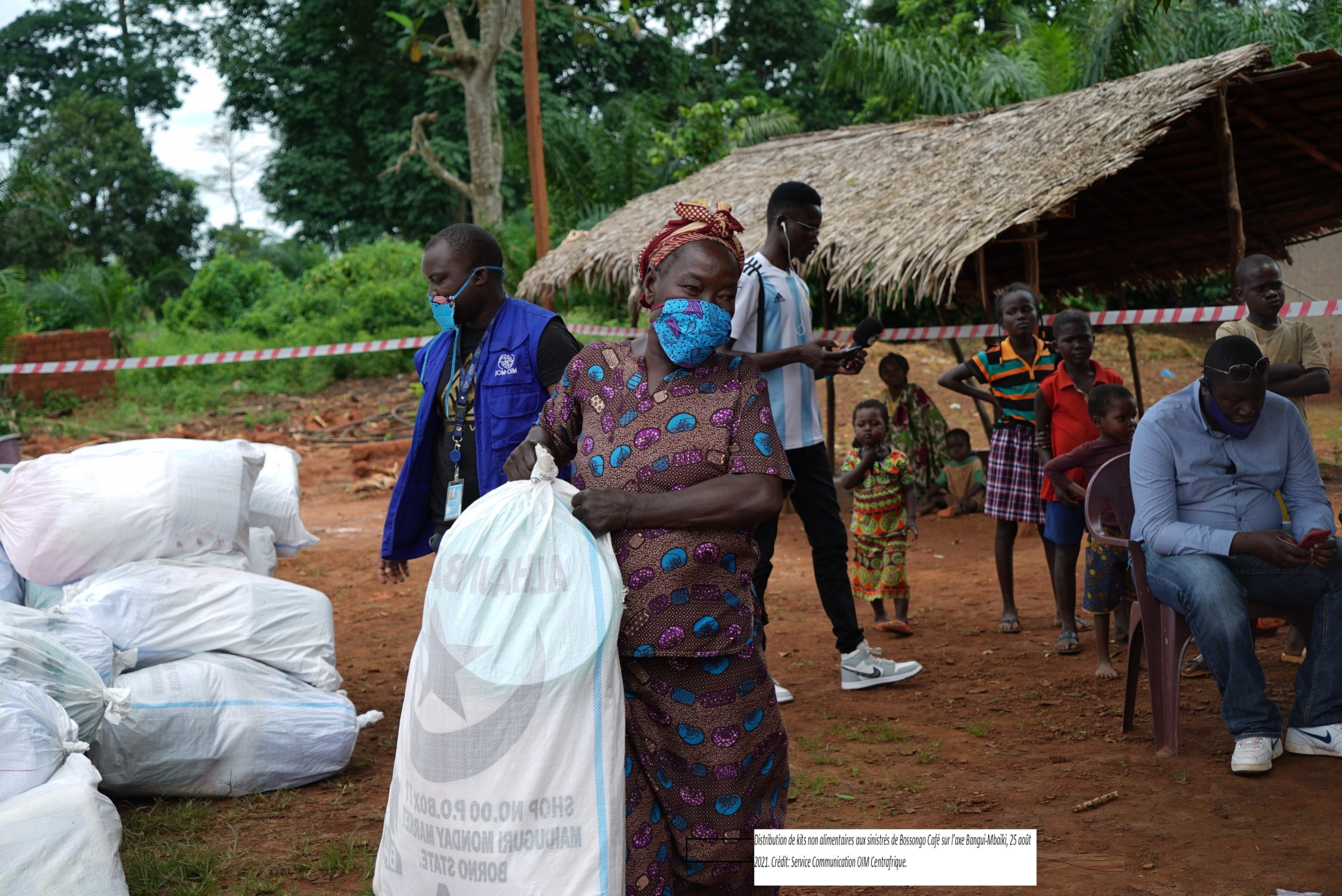 Centrafrique : L'OIM au secours des sinistrés du village de Bossongo Café