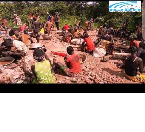Centrafrique : Un nouveau chantier minier découvert à 5 km de Bozoum en état d'activité maximale dans l'Ouham-Pende