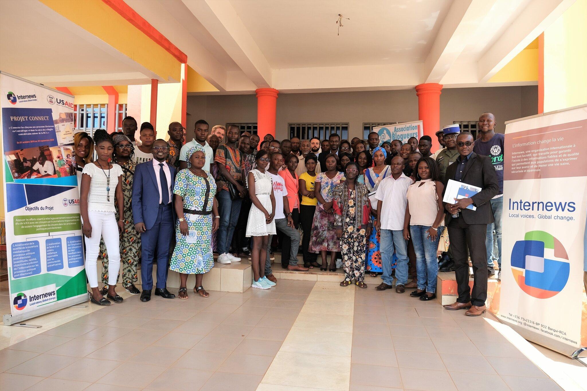 Centrafrique : L'ONG Internews Network RCA se félicite de bilan du « Projet CONNECT » qui soutient plus de 20 radios dans le pays