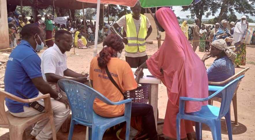 Centrafrique : Le PAM distribue de coupons alimentaires à plus de 6500 personnes vulnérables à Bouar et Baoro dans la Nana-Mambéré